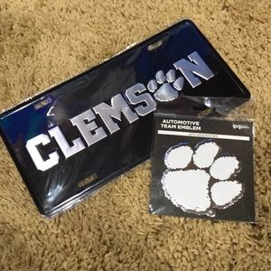 New! Clemson tag with auto emblem